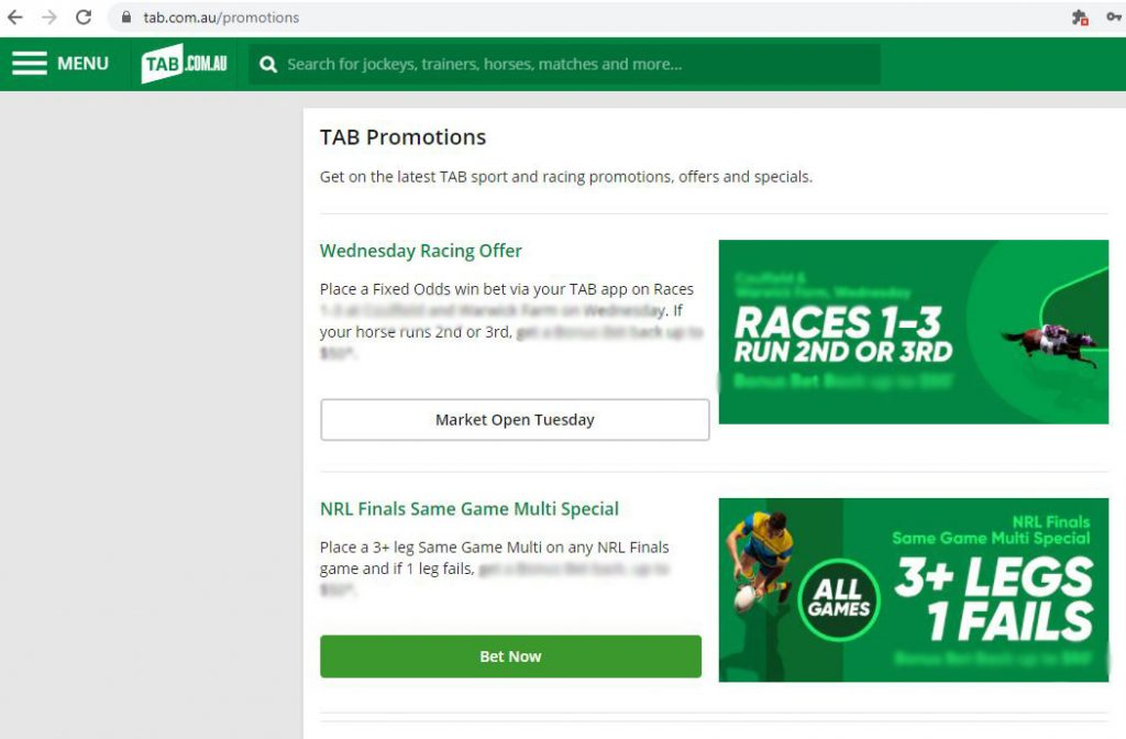 tab betting promotion code